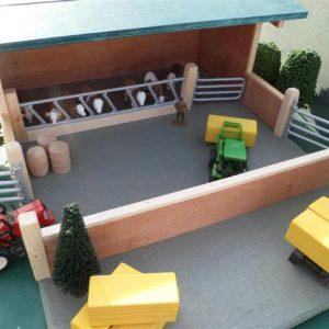 Livestock housing , wooden toy farm