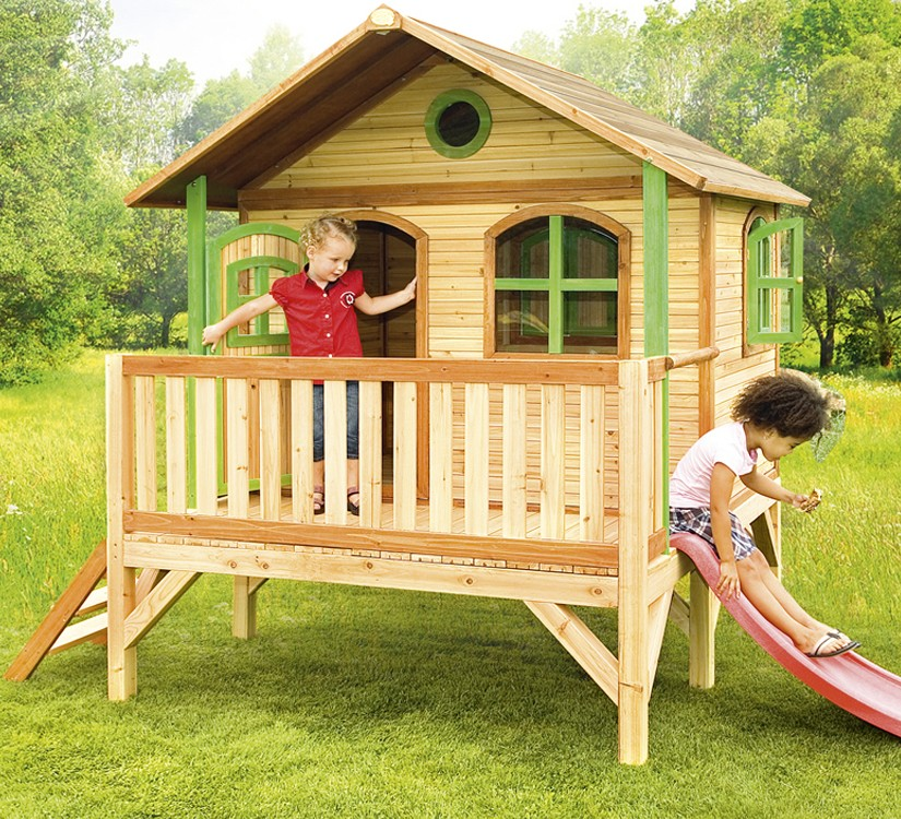 playhouse child friendly interior surfaces | Playhouse Stef • outdoor playground equipment, swings ...