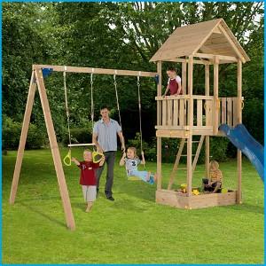 The Bahana climbing frame swing and slide set