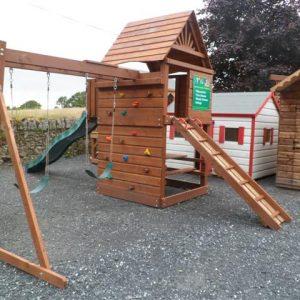 Monkey bar swing beam slide swings climbing frame tree house