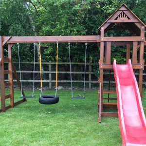 Play tower,monkey bar swing beam punching boxing bag ,fireman's pole, climbing ladder ,wave slide, access ladder,swing seats