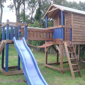 tree house playhouse climbing wall terrace slide climbing frame