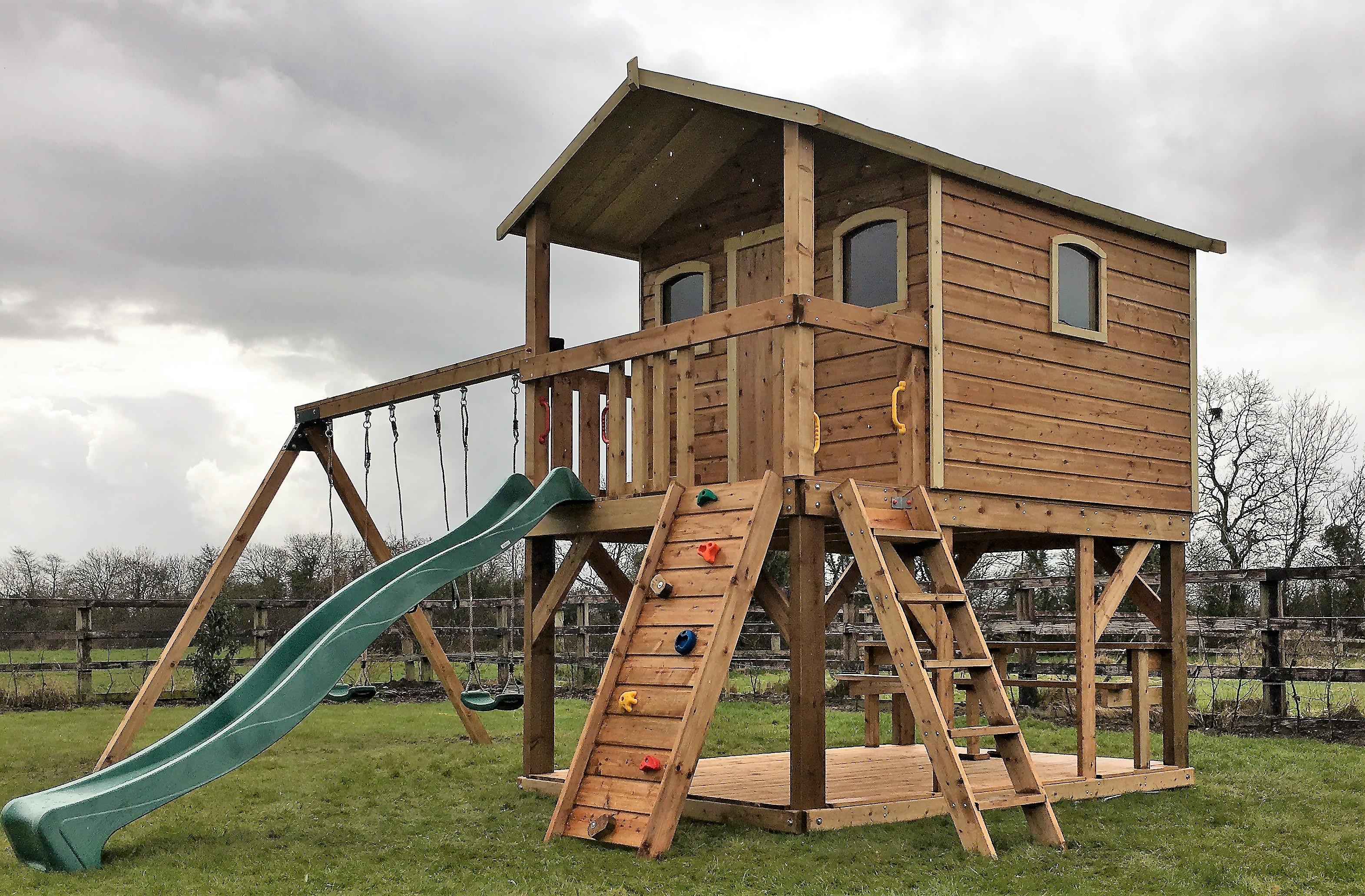 Super Sized Deluxe Tree House Ref 082t Stt Swings