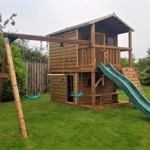 Tabby Treehouse with play shop swings and slide sttswings