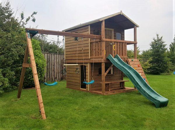 Tabby Treehouse with play shop swings and slide sttswings