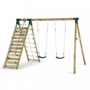 uakari_wooden_swing_set sttswings climbing net rockwall