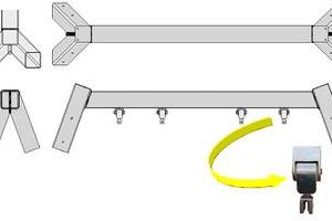commercial swing cross beam