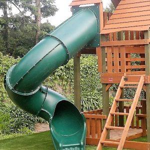 Spiral tube slides