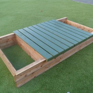 Heavy Duty Sand Box with Sliding Lid