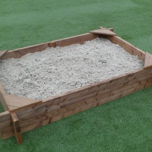 STT Swings heavy duty large timber sandbox