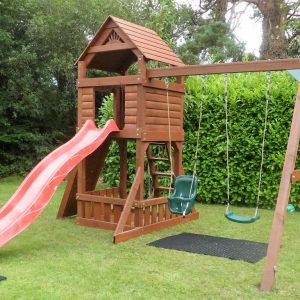 The Lodge swing and slide set sttswings