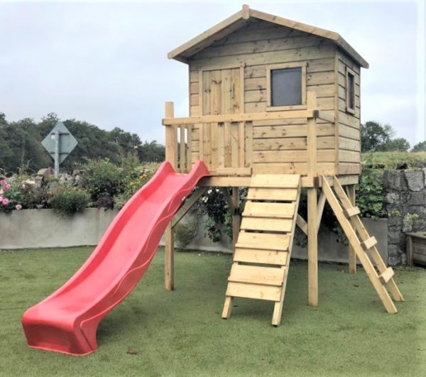 Clubhouse tree-house slide climbing wall access ladder