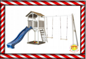 climbing frame treehouse swing combination