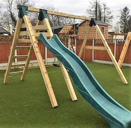 The Hazelwood STTSwings 2 item swing and slide set