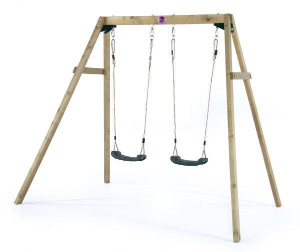 BFree wooden double swing set sttswings