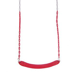 Wrap around swing seat with coated chain
