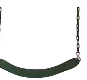 Wrap swing seat with coated chain. green. sttswings