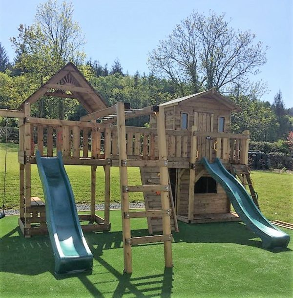The Burtin Treehouse and climbing frame sttswings Ireland