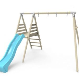 Double swing and slide set,.STTSwings