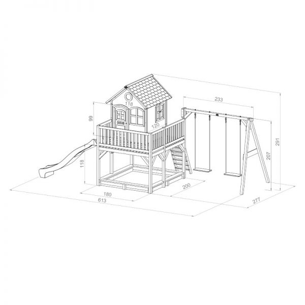 Liam Playhouse (with Double Swing) Dimensions