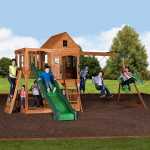 Hill Crest Play Tower (with Swings)